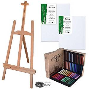 Caballete y set de pintura para niños
